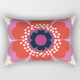 Lightweight - 70s retro throwback floral flower art print minimalist trendy 1970s style Rectangular Pillow