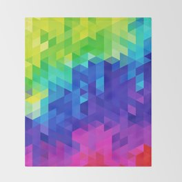 Abstract LGBT Pattern Throw Blanket