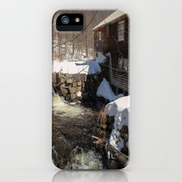 Grist Mill, Maine iPhone Case