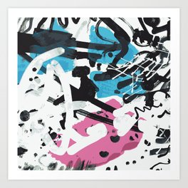 wild scribble Art Print