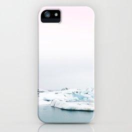 Beautiful glacier lagoon winter iPhone Case