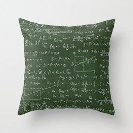 Geek math or economic pattern Throw Pillow