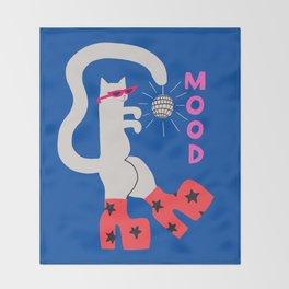 Mood Cat Throw Blanket