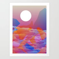 Magic Sunset at D Point Art Print