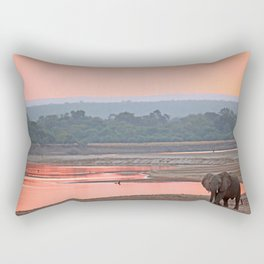 Walk in the evening light, Africa wildlife Rectangular Pillow