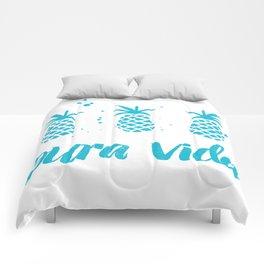 Pura Vida Pineapples in Blue Comforters