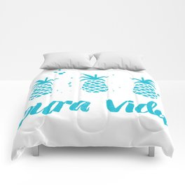 Pura Vida Pineapples in Blue Comforters