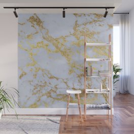 Awesome trendy modern faux gold glitter marble  Wall Mural