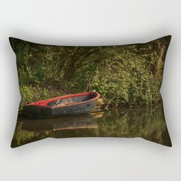 Dinghy On The Oxford Canal Rectangular Pillow