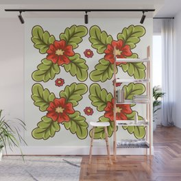 Guild of flowers and leaves! Wall Mural