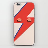 david bowie iPhone & iPod Skins featuring Music Minimals - David Bowie by Eric Crawford