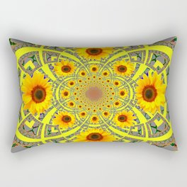 YELLOW SUNFLOWER  ART MODERN ART PATTERN Rectangular Pillow
