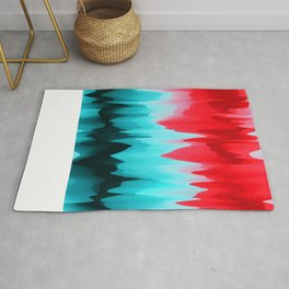 Abstract Art. Red Poppies Rug