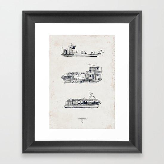 Tigre Delta: Ships Part One Framed Art Print