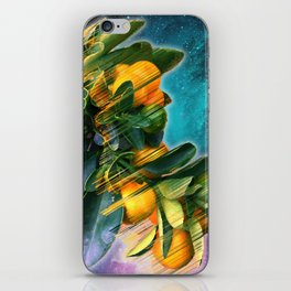 Small fruit tree in outer space iPhone Skin