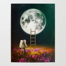 Going To The Moon Poster