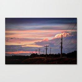 Prarie Sunset, Alberta Canvas Print