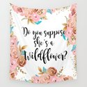Blush and gold wildflower by peggieprints