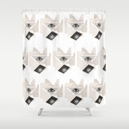 Masonic Rorschach Pattern - The All-Seeing Eye Shower Curtain