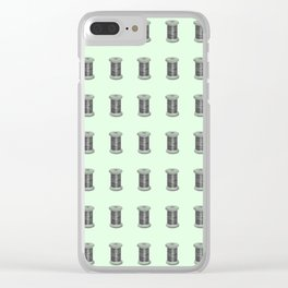 Vintage Sewing Thread Machine Needle Pattern Clear iPhone Case