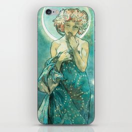 Alphonse Mucha Moonlight Art Nouveau iPhone Skin