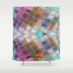 Pattern Block by Nico Bielow Shower Curtain