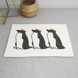 Classic Penguin with a Party Hat Rug