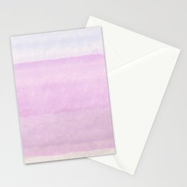 Pastel pink lilac ivory ombre watercolor Stationery Cards