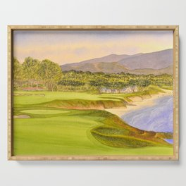 Pebble Beach Golf Course Holes 9 and 10 Serving Tray