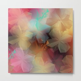 Soft Flowers Impressions Metal Print