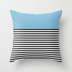 STRIPE COLORBLOCK {DUSK BLUE} Throw Pillow