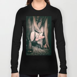 ANGRY BDSM KINKY FUCKING STOCKING FETISH GAY PORN Long Sleeve T-shirt