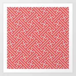 Lattice - Coral Art Print