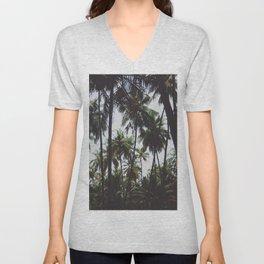 FOREST - PALM - TREES - NATURE - LANDSCAPE - PHOTOGRAPHY Unisex V-Neck