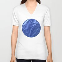 dune V-neck T-shirts featuring Blue Dune by Lyle Hatch
