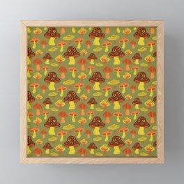 Mushroom Print Framed Mini Art Print