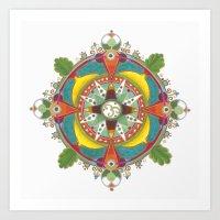 Peace & calm mandala Art Print
