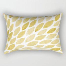Watercolor brush strokes burst - yellow Rectangular Pillow