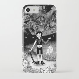 Witchy Skateboarder iPhone Case
