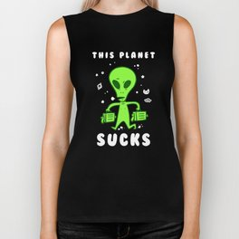 This Planet Sucks Biker Tank