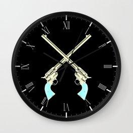 Crossed Guns Pair Wall Clock
