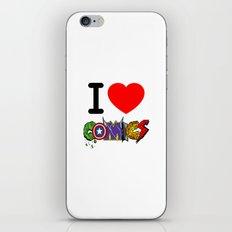 I LOVE COMICS iPhone & iPod Skin