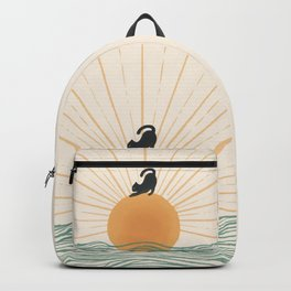 Good Morning Meow 7 Sunny Day Ocean  Backpack