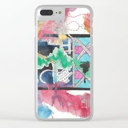 I Want To Leave You (Notes) Clear iPhone Case
