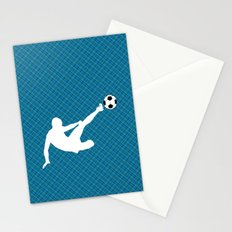 Footballer in action Stationery Cards