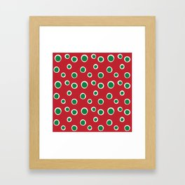 Christmas Dots Framed Art Print