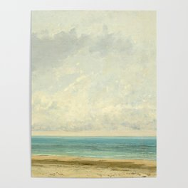 Calm Sea Oil Painting by Gustave Courbet Poster