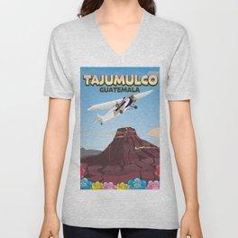 Tajumulco Guatemala volcano poster Unisex V-Neck