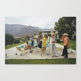 Poolside Gossip Canvas Print