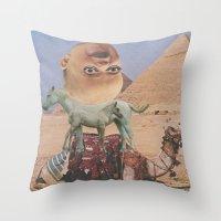 desert Throw Pillows featuring Desert by Jon Duci